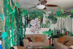 Den in the jungle Jungle Safari, Spy, Birthday, Party Ideas, Home Decor, Birthdays, Decoration Home, Room Decor, Ideas Party
