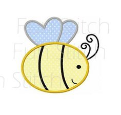 Bumble bee applique machine embroidery design
