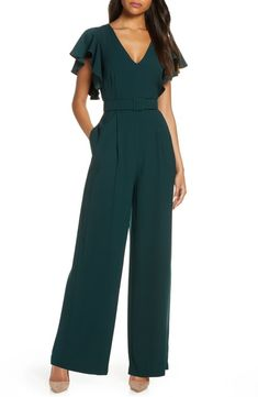 Looking for Eliza J Flutter Sleeve Belted Satin Jumpsuit ? Check out our picks for the Eliza J Flutter Sleeve Belted Satin Jumpsuit from the popular stores - all in one. Asos Jumpsuit, Satin Jumpsuit, Formal Jumpsuit, Jumpsuit For Wedding Guest, Cheap Wedding Dress, Wedding Guest Jumpsuits, Jumpsuit Elegante, Mode Chic, Jumpsuits For Women