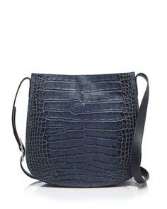 Vince Shoulder Bag - Signature Croc-Stamped Saddle | Bloomingdales's