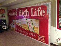 Miller Beer Sign Billboard my mancave