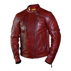 The Clash jacket is new to the Roland Sands Design collection and is based upon a rocker style leather jacket. We think this is one of Roland Sand's best looking jackets to date and you can see why! We love the aggressive styling and detailing on this jacket with its asymetric zipper and rotated sleeves. Great for riding Cafe Racers with its dropped back length and long sleeves.