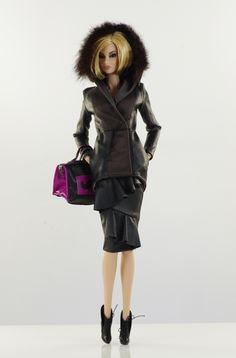 prepare for (FR2 body) set inc.: jacket, top, skirt, bag, boots.