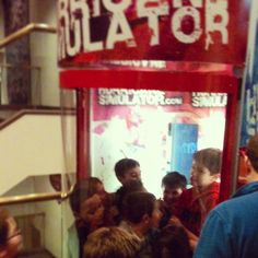 BTW, if you were ever wondering how many kids can fit into a Cat 1 (78mph) Hurricane Simulator at once? The answer is 8. Never know when you just might need to know that piece of trivia... Late overnight at with my nephew and the Browncroft crew at the #RMSC last night... Still trying to wake up. #kids #fun #roc #nephew #family #science