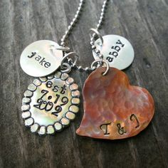 Mother's Necklace   Personalized necklace  by Whimsicalheartstring, $52.00