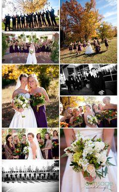 Fall wedding. I love the colors