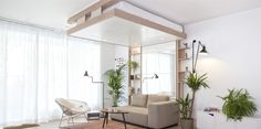 The BedUp Saves Space By Lowering From The Ceiling | HUH.