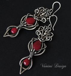 Catherine  Fine/Sterling silver and Ruby earrings por vanini
