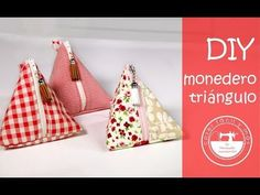 Monedero triangular: para aprovechar restos de tela - YouTube