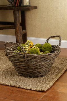 baskets | Curly Willow Handled Baskets - traditional - baskets - other metro ...