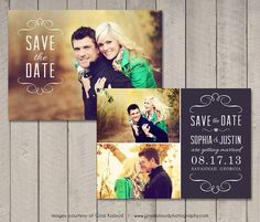 Save the Date Card / Magnet Printable by by vintagesweetdesign