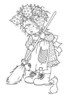 056~Cleaning Time Again! coloring page
