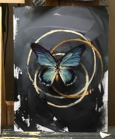 """Art by Lindsey Kustusch 🎨 """"Life, Death, Rebirth"""" oil on panel . Diy Canvas Art, Abstract Canvas, Vogel Illustration, Butterfly Art, Global Art, Love Art, Art Day, Art Pictures, Painting & Drawing"""