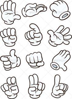 Cartoon Hands — Vector EPS sign … – – Graffiti World Cartoon Faces, Cartoon Styles, Cartoon Drawings, Cartoon Art, Cartoon Graffiti, Cartoon Ideas, Female Cartoon, Graffiti Drawing, Graffiti Lettering