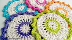 Free Crochet Pattern...Lotus Bloom Dishcloths! fiber flux adventures blog