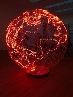Hot Spot 2013 :: A Playdate with Mona Hatoum – Modern Eccentrics Contemporary Home Decor, Red Aesthetic, Deco Design, Novelty Gifts, Neon Lighting, Room Decor Bedroom, My Room, Decoration, Artsy Fartsy