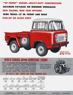 FC Print Ads - Jeep FC-150 | 1959 Forward Control | Willys Motors Inc.