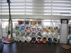 Storage idea for copic markers... pvc pipe from hardware store