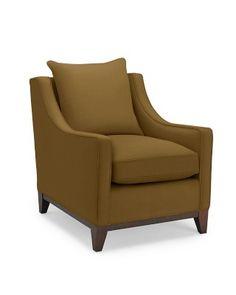 d35700d70bdb Presidio Chair, Standard Cushion, Textured Linen/Cotton, Charcoal, Ebony Leg