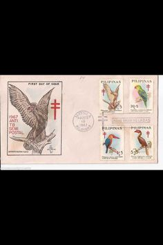 First issue stamp: Monkey eating Eagle and other birds