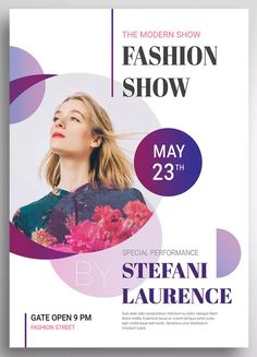 Modern Fashion Show Promo Flyer Template PSD. Download