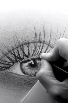 Art Drawings Beautiful, Art Drawings Sketches Simple, Pencil Art Drawings, Realistic Drawings, Sketches To Draw, How To Sketch, Eye Pencil Drawing, Pencil Drawings For Beginners, Eye Drawing Tutorials