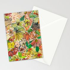 Wildflower Stationery Cards by Amy Sia | Society6