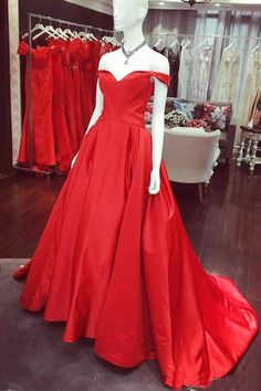 Prom Dress Red #PromDressRed, Evening Dress For Cheap #EveningDressForCheap, A-Line Evening Dress #ALineEveningDress, Prom Dresses 2019 #PromDresses2019