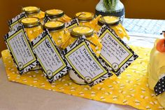 Favors at a Bumble Bee Baby Shower #bumblebee #babyshowerfavors