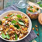 Cauliflower couscous for dinner today (and tomorrow for 'on the go')! Lunch Recipes, New Recipes, Salad Recipes, Healthy Recipes, Healthy Food, Cabbage Curry, Cauliflower Couscous, Dinner Today, Eat Smart