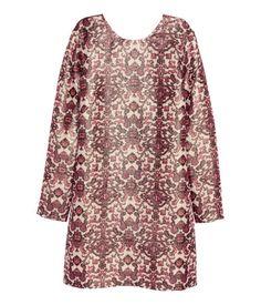 Vestido en mezcla de seda | Beige claro/Brillante | Ladies | H&M CL