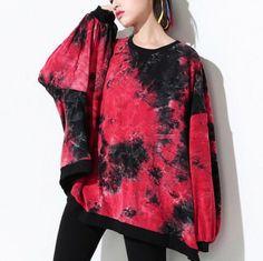 Personalized tie dye sweatshirt for women hip hop sweatshirts loose