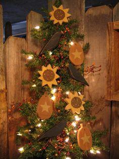 sunflower primitive decorating | Primitive SUnFLoWeR HarVeSt CrOw PuMPkin Fall Ornies Ornaments. $16 ...