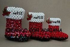 NAVIDAD - CREANDOCONADRIANA Holiday, Christmas, Beads, Beading Ideas, Fictional Characters, Bead Animals, Crochet Flowers, Diy Kid Jewelry, Craft
