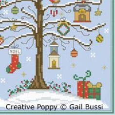 A Christmas song cross stitch pattern by Gail Bussi - Rosebud Lane