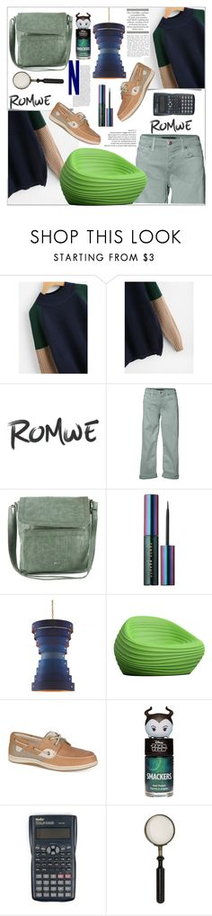 """Romwe"" by natalyapril1976 ❤ liked on Polyvore featuring Level 99, Relic, Puma, Currey & Company, Tonon and Sperry"