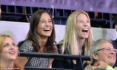 Sept. 12, 2014 Pippa and Autumn shared a laugh as they watched the sport action at the Wheelchair Rugby final between the USA and Great Britain on Day Two of the Invictus Games at the Olympic Park in London, England.