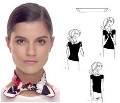 How To Tie A Scarf - Hermès Scarf Knotting Cards - Little Gaucho