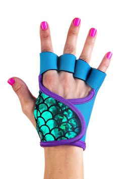 "Just ordered these! There are several different wave collection ""mermaid"" lifting gloves! I am ordering the lime green next!!! Wish there was a purple one... :) Emerald Wave ⋅ wave collection ⋅ g-loves workout gloves for women · g-loves workout gloves for women"
