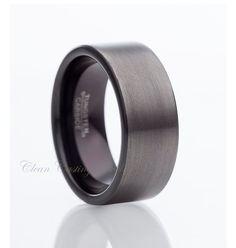 Gun Metal Tungsten Wedding BandMens van CleanCastingJewelry op Etsy