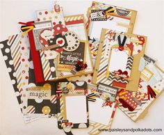 These are amazing!! Say Cheese Smash Book inside pagesW (Medium) Paisley and Polka Dots website mini album