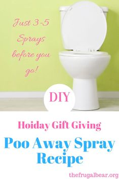 Gift giving this Holiday season just got better with DIY gifts from the heart. This DIY Poo Away Spray will be a sure fire hit with your friends and family! Diy Holiday Gifts, Diy Gifts, Handmade Gifts, Poo Spray, Cleaners Homemade, Finding Joy, Homemaking, Frugal, Diy And Crafts