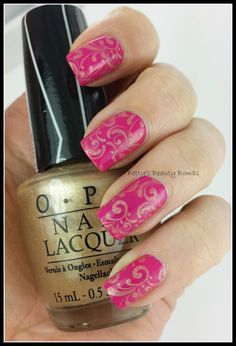 http://www.bettysbeautybombs.com/2014/06/02/gold-stamping-nail-art/ / Antique Gold Stamping using OPI polishes