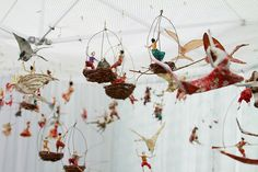 Whimsical and stunning paper mache sculptures by Sarena Mann. www.sarenamann.com by SIFC Photography, via Flickr. I love these. I have a mermaid...hoping to get more someday!