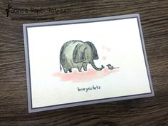 jpp - Karte Love you Lots / Elefant / elephant / Stampin' Up! Berlin  www.janinaspaperpotpourri.de