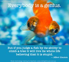 Everybody is a genius. But if you judge a fish by its ability to climb a tree it will live its whole life believing that it is stupid  - Albert Einstein    www.midnightmusic.com.au