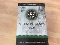 Solomon Grundy Peach WINE kit 6 bottles 7 days FREEPOST UK