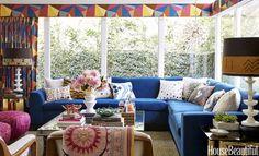 Molly Luetkemeyer LA Home What Is Boho, Tree House Designs, Hollywood Homes, Custom Sofa, Big Design, Curtain Patterns, Beautiful Homes, House Beautiful, Outdoor Furniture Sets