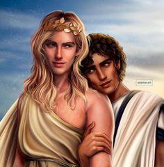 Greece Mythology, Greek Mythology Art, Percy Jackson, Achilles And Patroclus, Captive Prince, Trojan War, Book Characters, Fictional Characters, Secrets Of The Universe