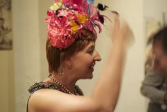My friend Hollis Bulleit and one of her fascinator's